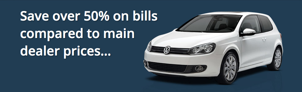 Save over 50% on bills compared to main dealer prices